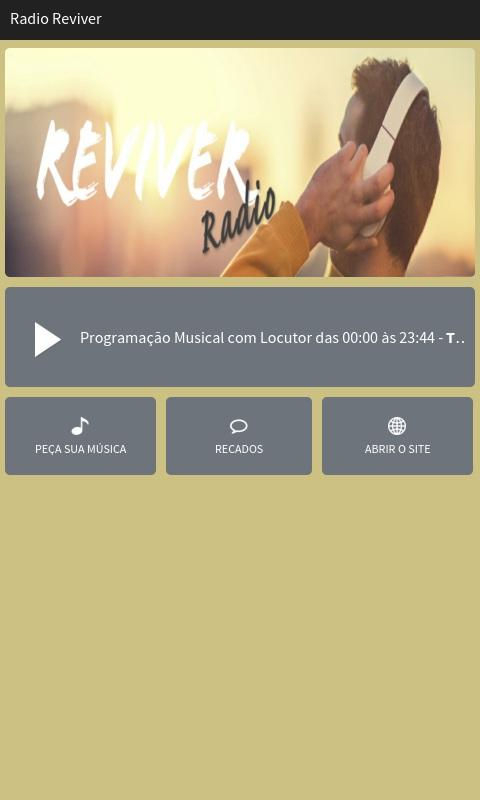 Rádio Reviver- screenshot