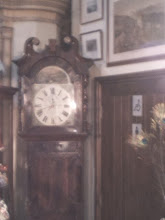 Photo: A grandfather clock next to disabled toilet access at Trinity Centre on Spilsby Rd. Previously tourist information and a church in previous lives, it's made up of dealer stands and owner's own antiques - the competition tending to keep them all competitive..