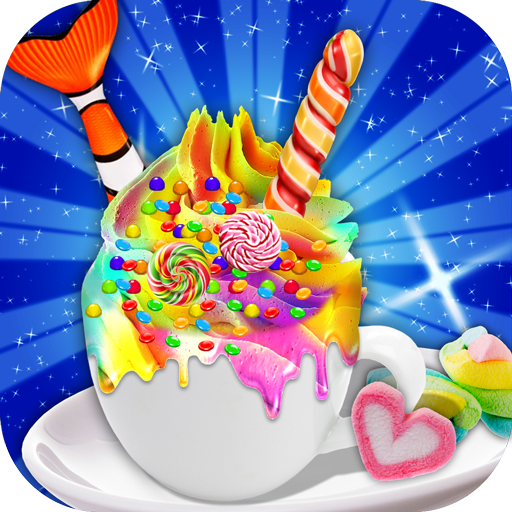 Rainbow Unicorn & Mermaid Tail Hot Chocolate Drink (game)