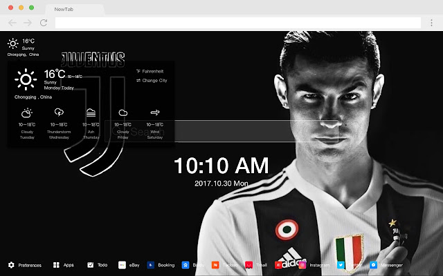 Ronaldo New Tab HD Popular Football Theme