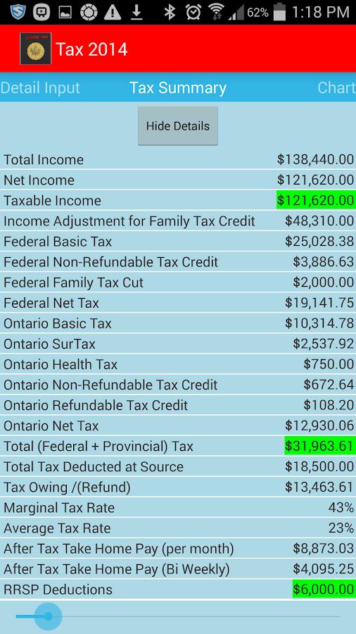 Income Tax Calculator Canada 2016