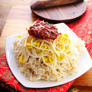 Okinawan Rice and Bean Sprouts.