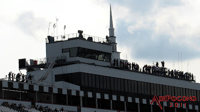 Photo: Camera Crews and Spotters are all on the roof during Sprint Cup Practice