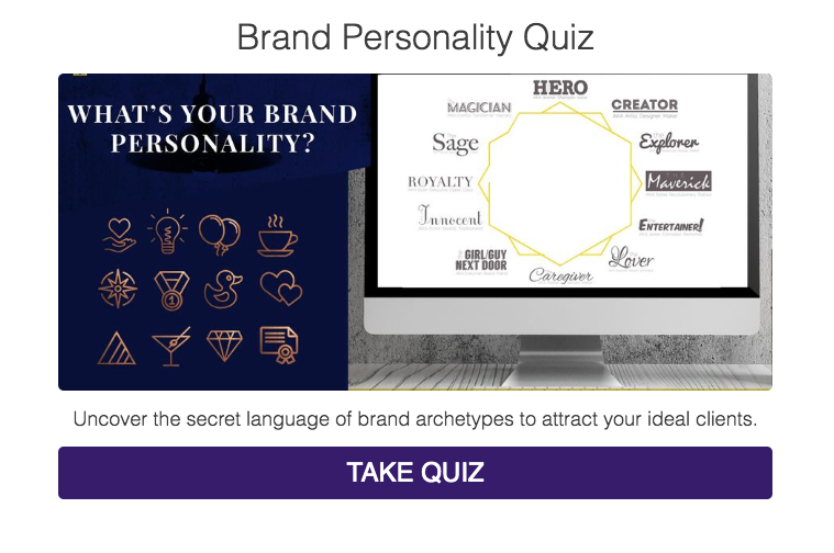 What's your brand personality archetype quiz cover