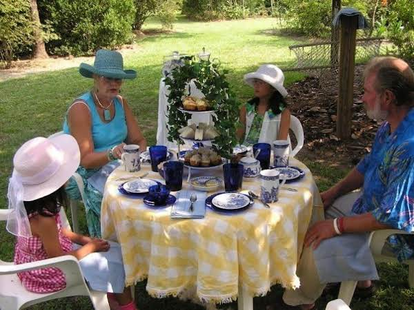 A Little Summer Tea Party With My Two Youngest Granddaughters.  What Fun.