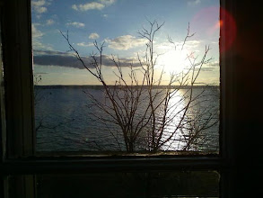 Photo: The view outside our window at the EB Morgan House in Aurora near sunset