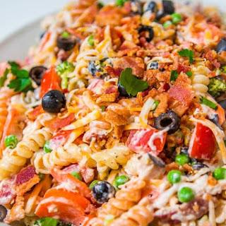 Easy Bacon Chicken Ranch Pasta Salad Recipe