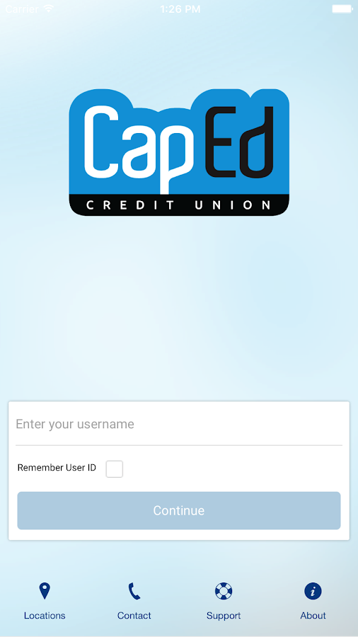 CapEd Mobile App- screenshot