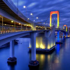 rainbow bridge by Kadek Lana - Buildings & Architecture Bridges & Suspended Structures ( tokyo )
