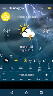 Météo-France screenshot for Android