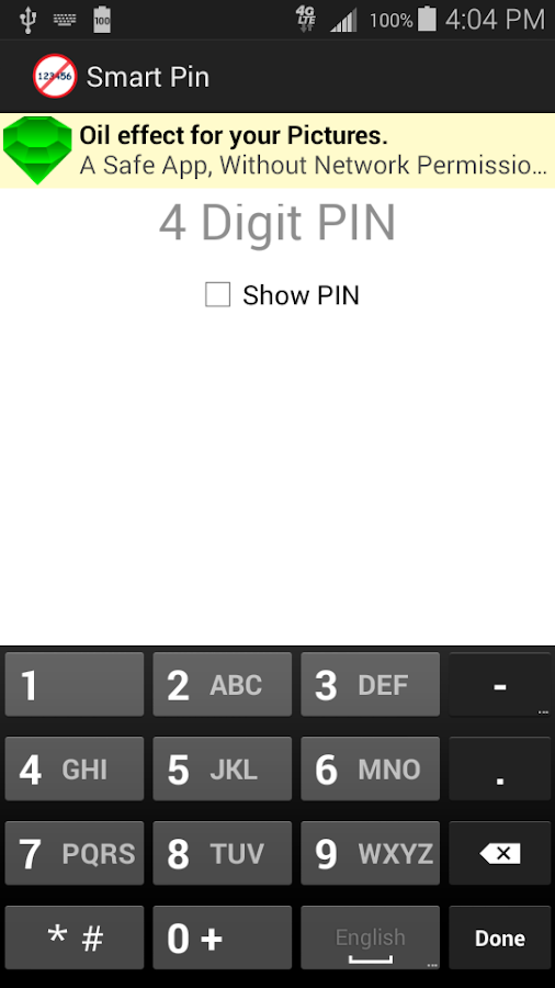 Secure, Smart, PIN- screenshot
