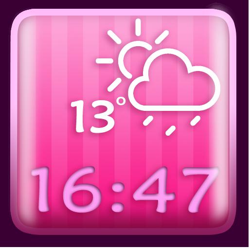天气のピンク 時計天気ウィジェット LOGO-記事Game