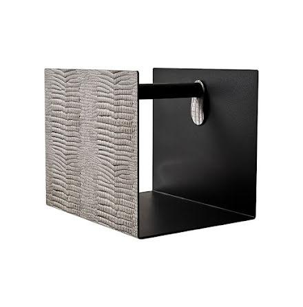 CONTAINER Förvaringskorg, CROCO silver-black / ALU Anthracite / OAK black