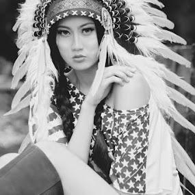 american girl by Adhetja Atmadja Wardana - People Portraits of Women