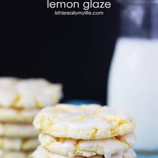 Easy Lemon Cookies with Lemon Glaze.