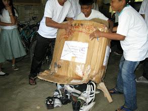 Photo: Shoe donation