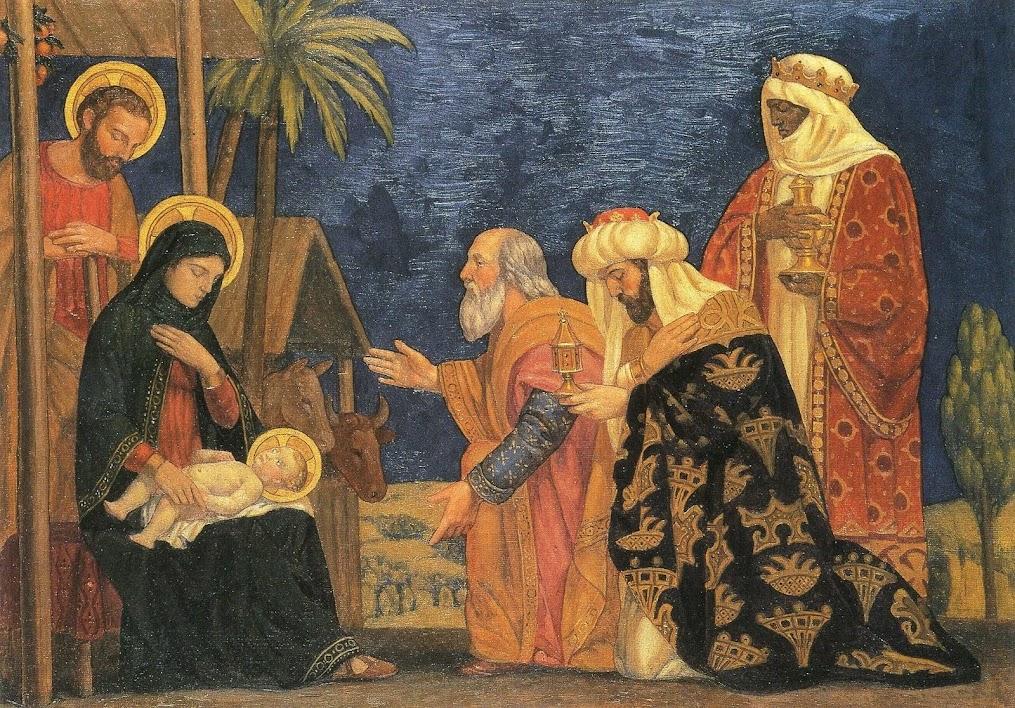 i re magi rendono omaggio a Gesù Bambino
