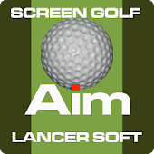 Screen Golf Putter Aiming