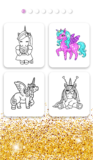 Unicorn Coloring Book Glitter App Report On Mobile Action App