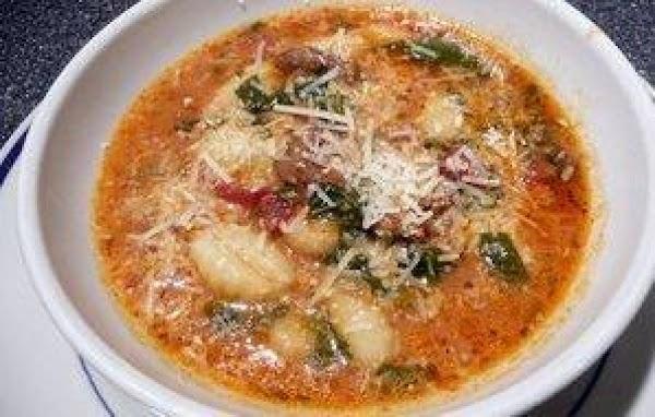 Italian Sausage & Gnocchi Soup Recipe