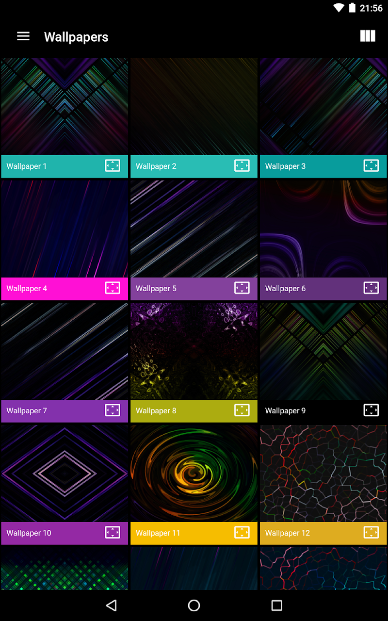 Neon Glow Rings - Icon Pack Screenshot 7