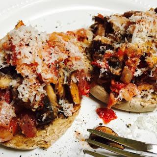 Italian Smothered English Muffin.