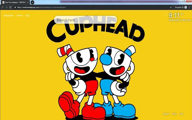 Cuphead New Tab wallpaper HD