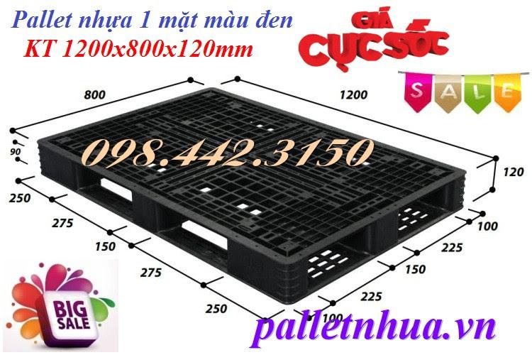 Pallet nhựa 1200x800x120mm