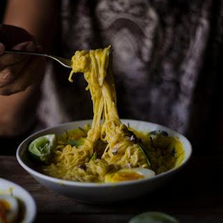 Meatless Acorn Squash Curry Ramen.