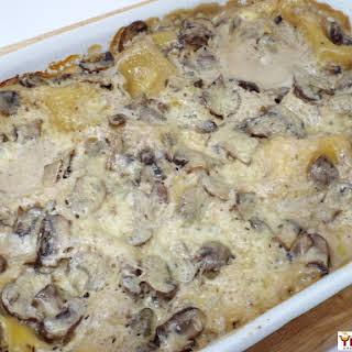 Cheesy Mushroom Lasagna.