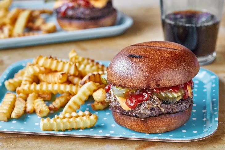 Sheet Pan Burgers and Fries Recipe