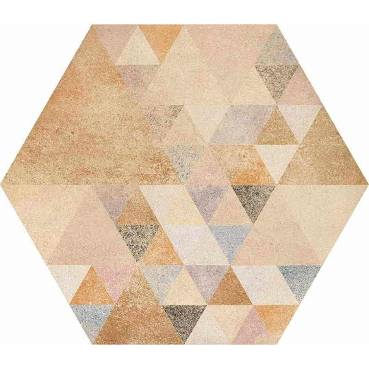 Klinker Hexagon Benenden Multicolor 23x26,6