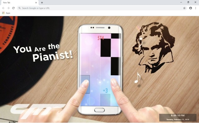 Piano Tiles 2 New Tab & Wallpapers Collection