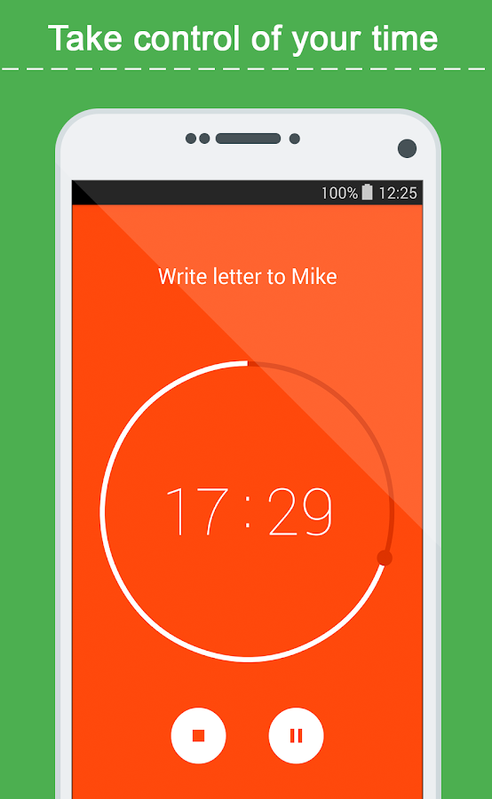 Time-tracker, ToDo list TimeIO- screenshot