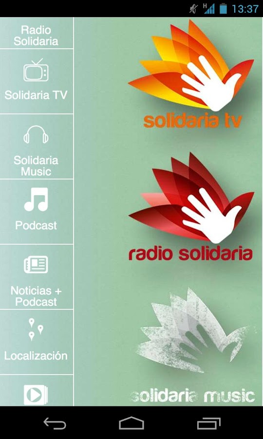 Solidaria Media- screenshot