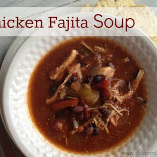 Crock pot Chicken Fajita Soup.