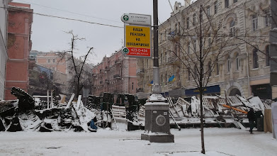 Photo: барикади на Городецького
