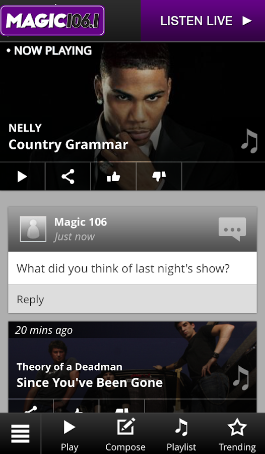 Magic 106.1- screenshot