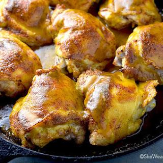 Honey Mustard Baked Chicken Thighs