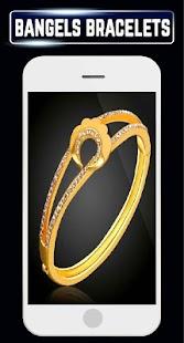 New Bangles Bracelet Design Gold Diamond Jewellray - náhled