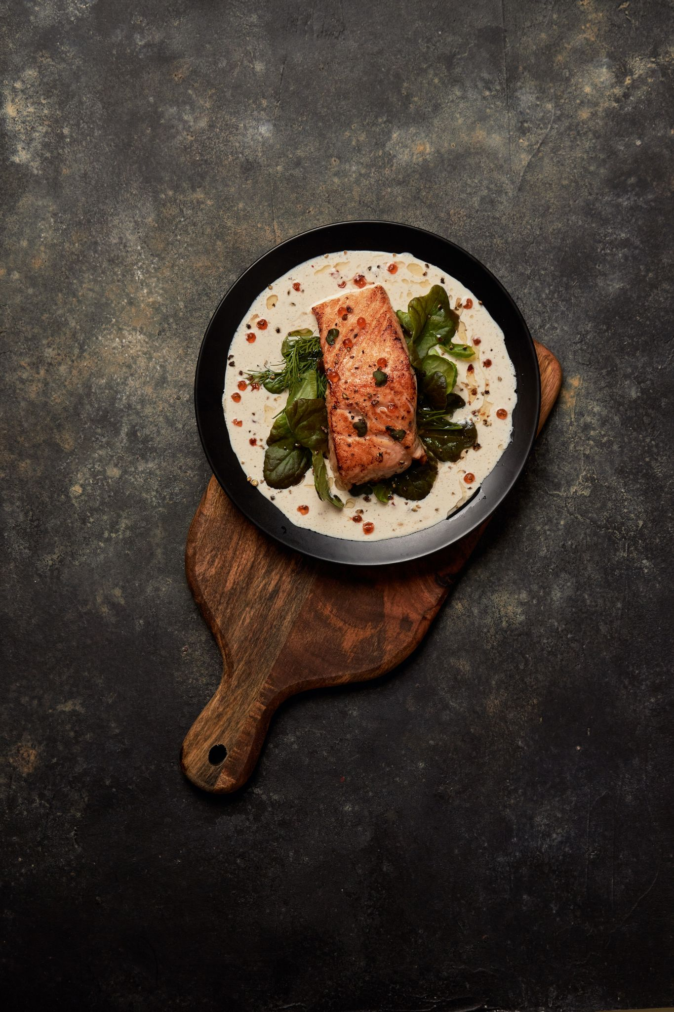 salmon chef dish