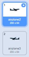 Tạo 2 costume máy bay ngược nhau