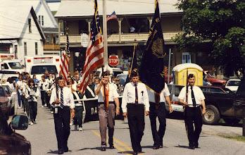Photo: The color guard at Danville Fair.