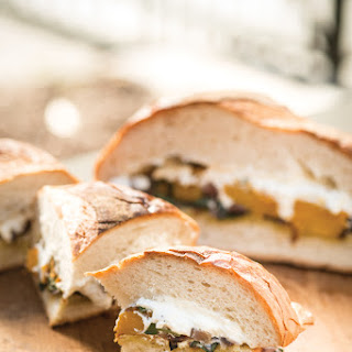 GRILL-ROASTED BUTTERNUT SQUASH, RED ONION, SAGE AND RICOTTA LOAF