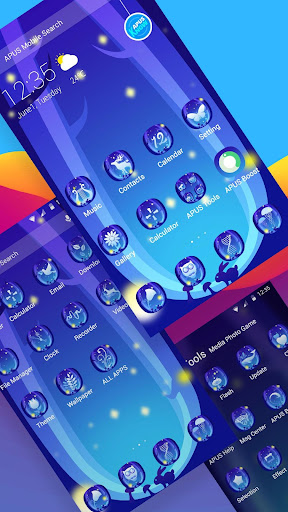 Rabbit at night theme for Android free - screenshot