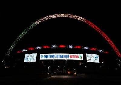 """📷 """"Forza Italia"""": Wembley probeert Italië op een prachtige manier te steunen"""