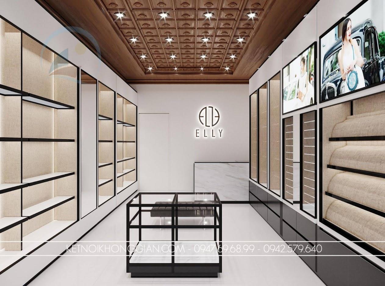 thiết kế shop túi xách diện tích nhỏ