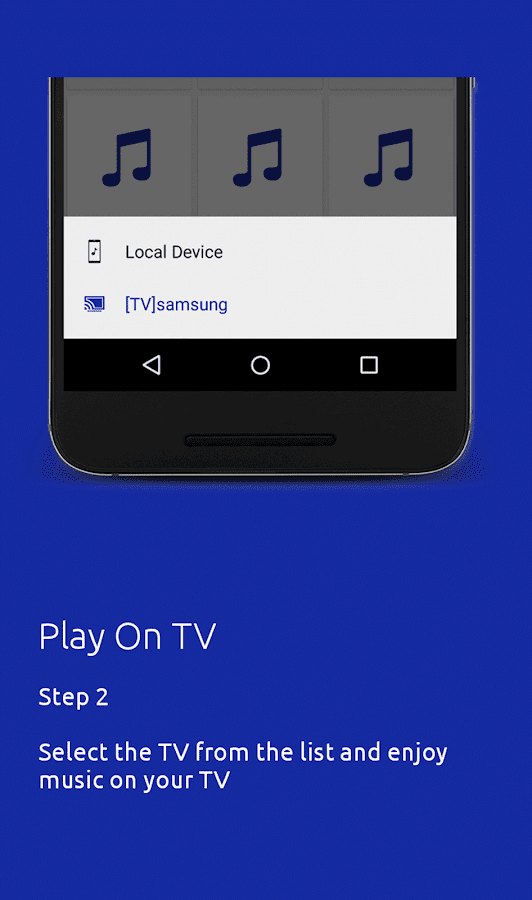 play music from samsung phone to tv