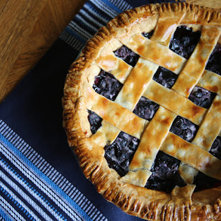 Frozen Blueberry Pie.