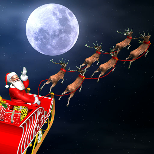 Baixar Christmas Flying Santa Gift Delivery